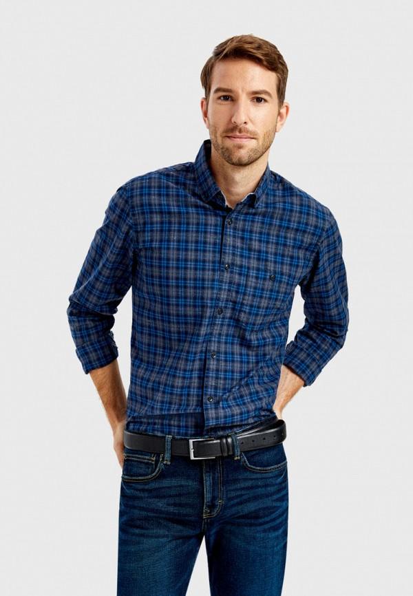 мужская рубашка с длинным рукавом o'stin, синяя