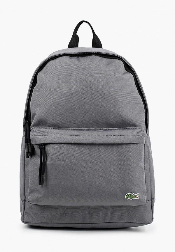 мужской рюкзак lacoste, серый