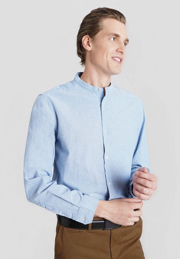мужская рубашка с длинным рукавом o'stin, голубая