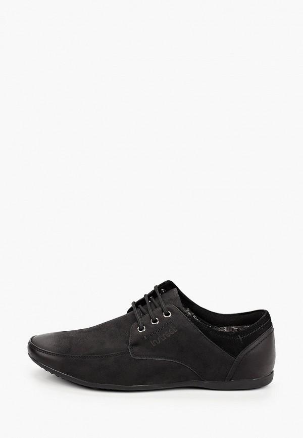 мужские туфли-дерби instreet, черные