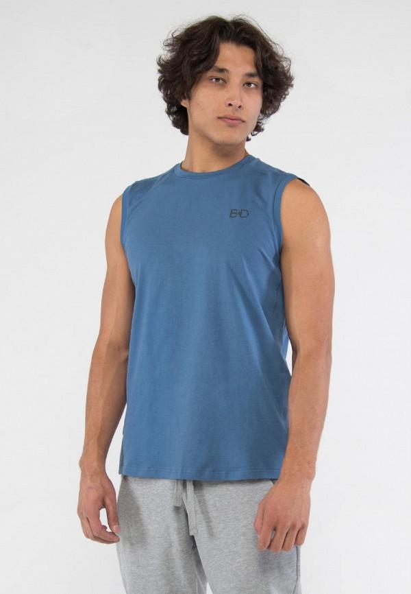 мужская спортивные майка bodro design, голубая