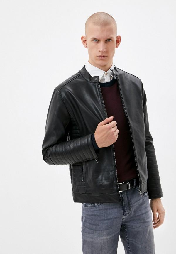 мужская кожаные куртка defacto, черная