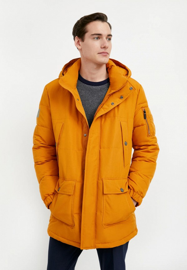 мужская утепленные куртка finn flare, оранжевая