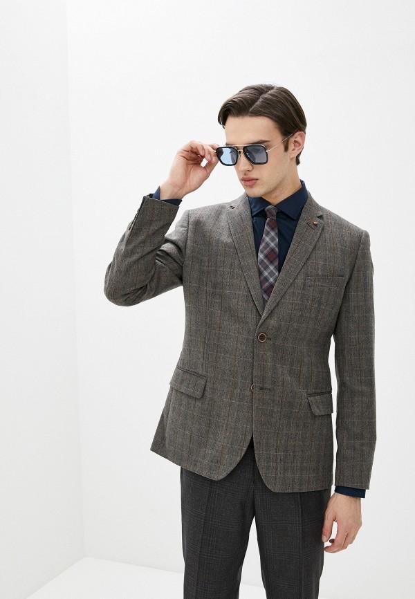 мужской пиджак bazioni, коричневый