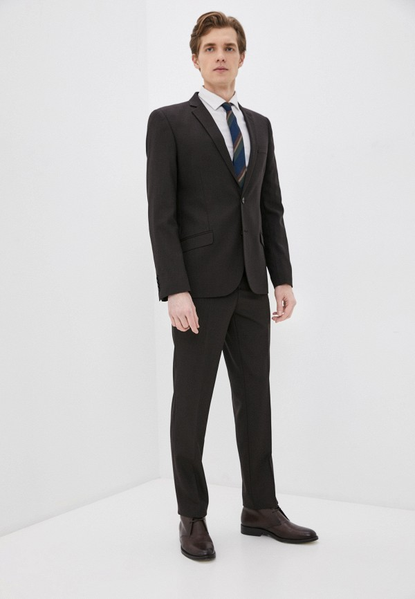 мужской костюм bazioni, коричневый