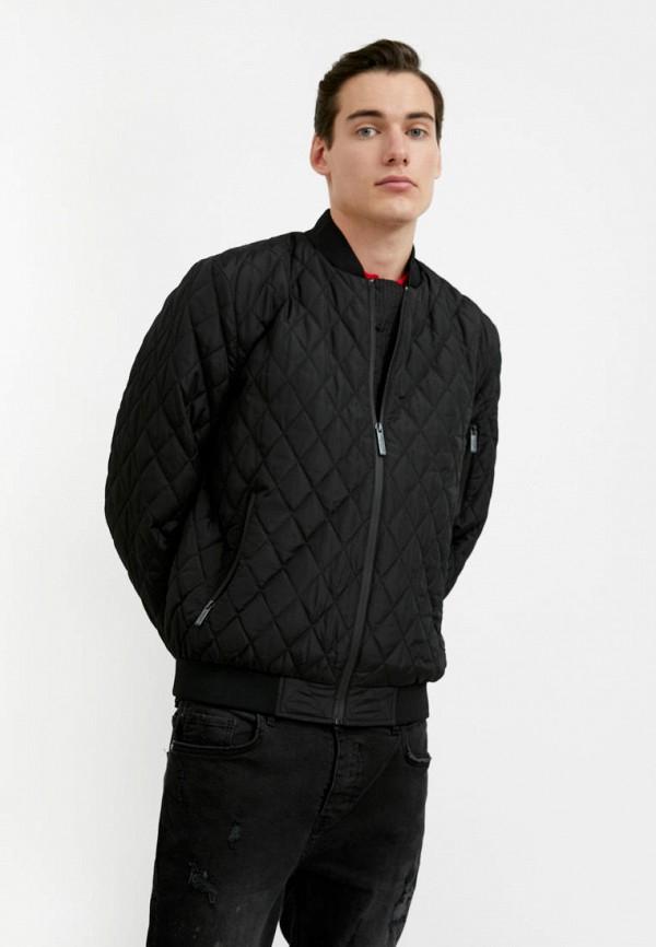 мужская куртка бомбер finn flare, черная