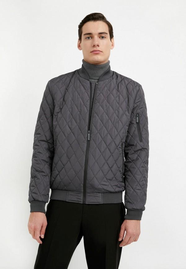 мужская куртка бомбер finn flare, серая