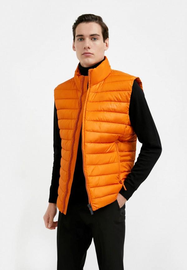 мужской утепленные жилет finn flare, оранжевый