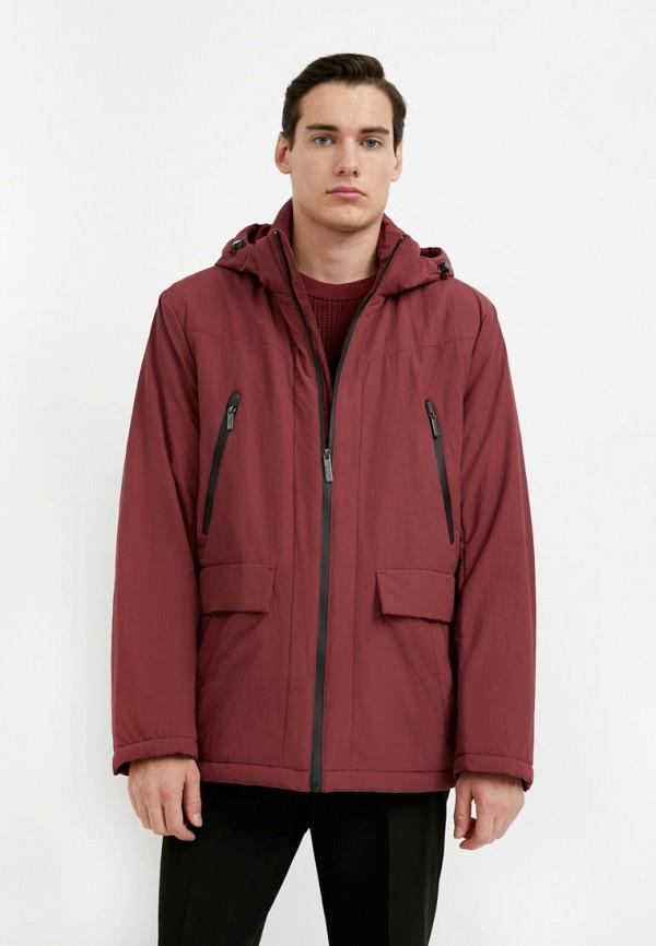 мужская утепленные куртка finn flare, бордовая