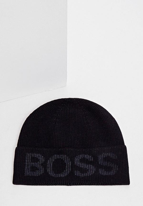 мужская шапка boss, черная