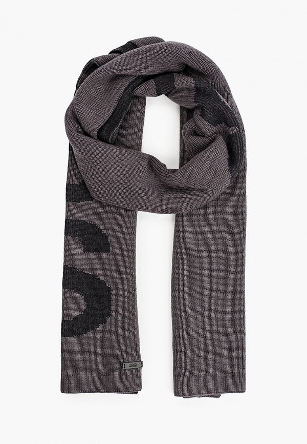 мужской шарф boss, серый