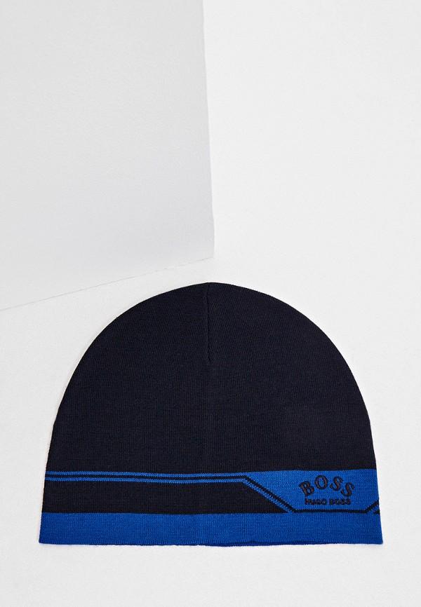 мужская шапка boss, синяя