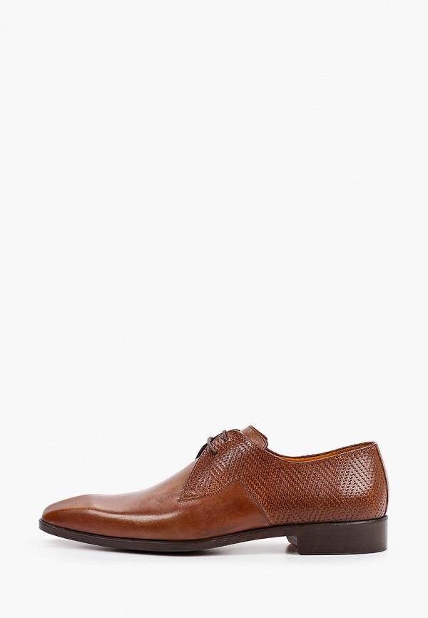мужские туфли-дерби dgs52, коричневые