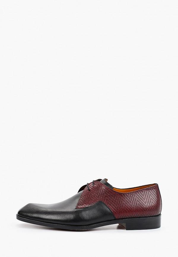 мужские туфли-дерби dgs52, бордовые