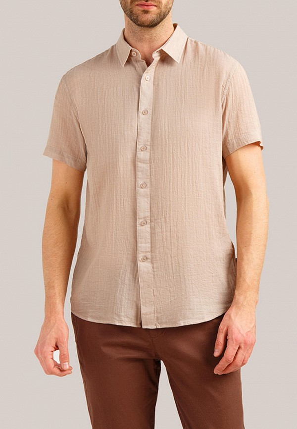 Рубашка Finn Flare бежевого цвета
