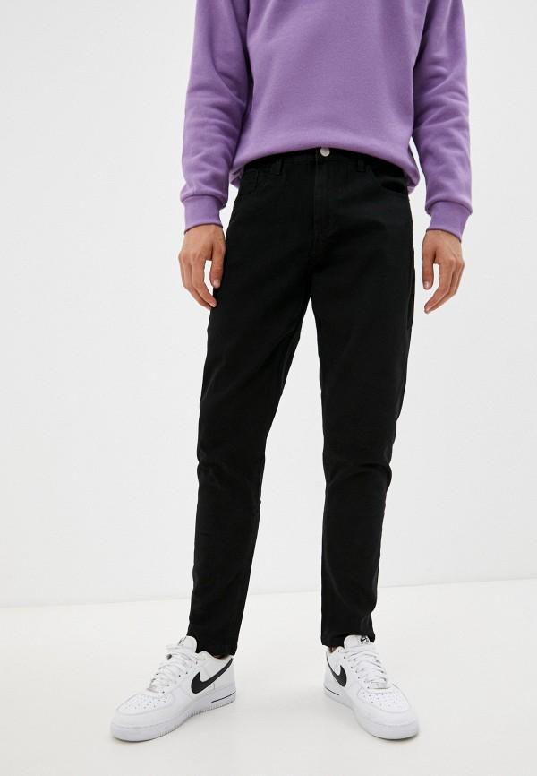 мужские зауженные брюки befree, черные