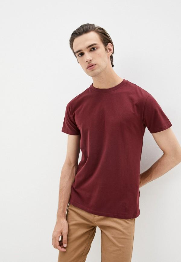 мужская футболка с коротким рукавом befree, бордовая