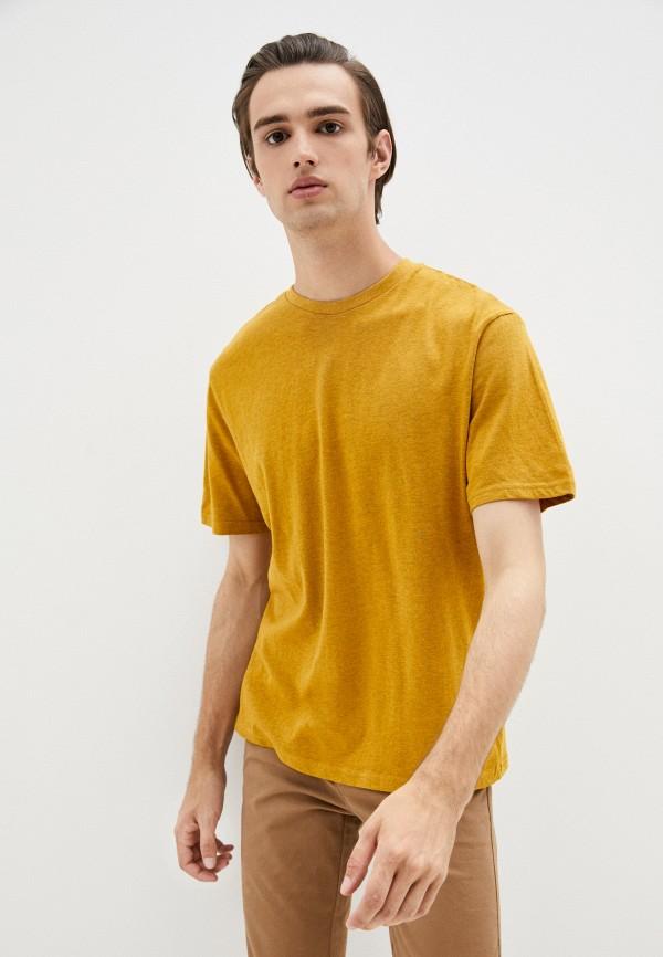 мужская футболка с коротким рукавом befree, желтая