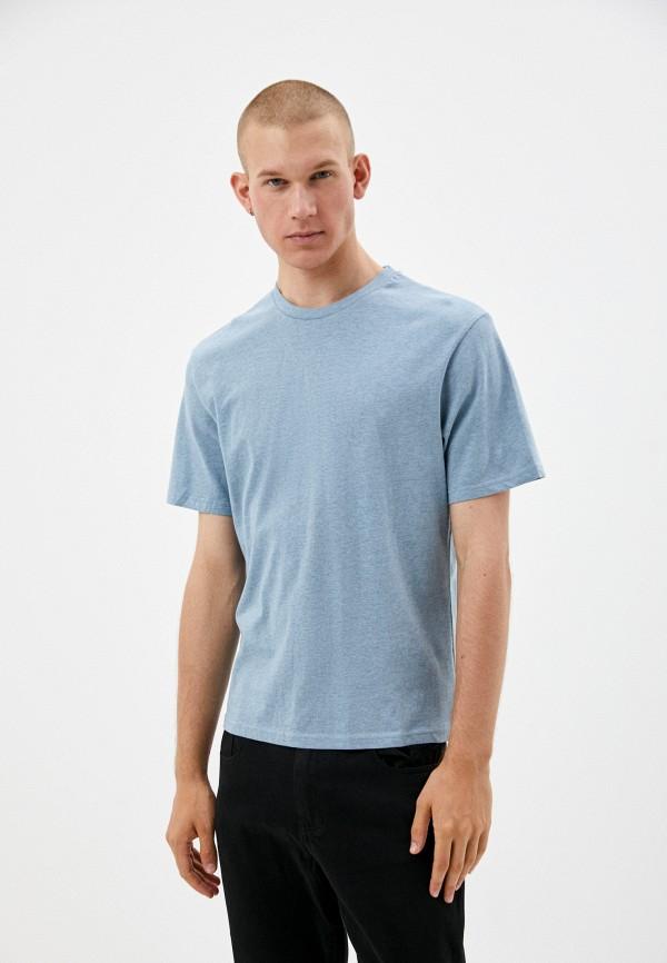 мужская футболка с коротким рукавом befree, синяя