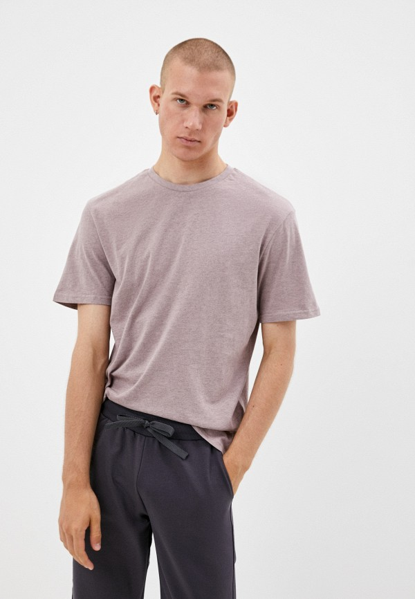 мужская футболка с коротким рукавом befree, розовая