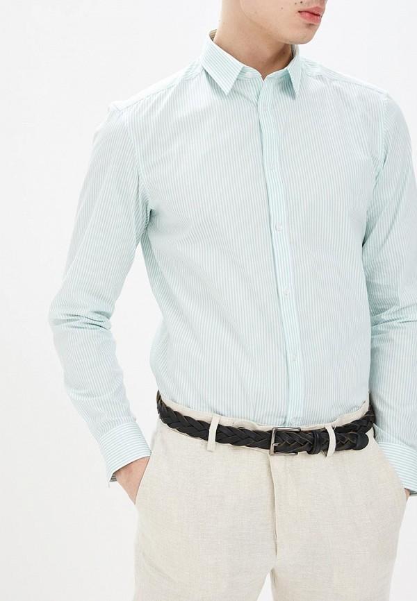 мужская рубашка с длинным рукавом top secret, зеленая