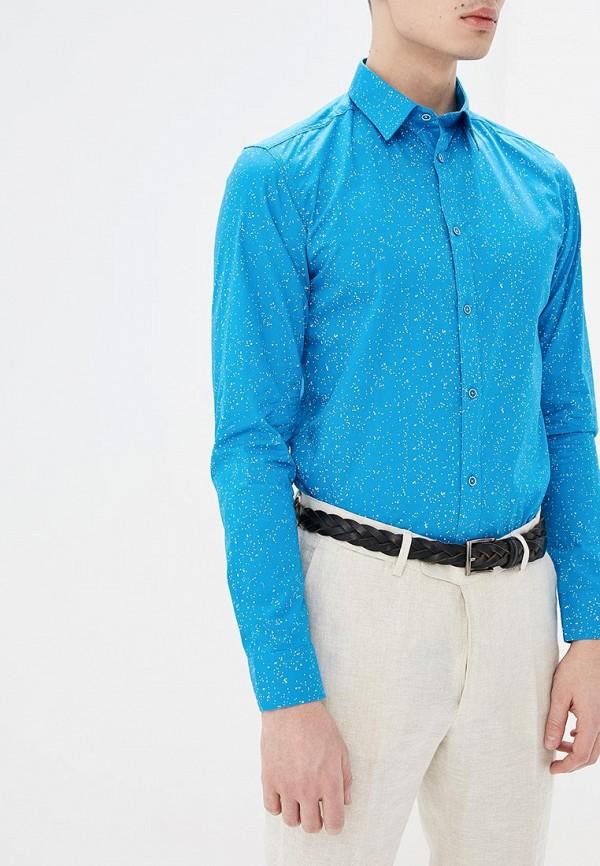 мужская рубашка с длинным рукавом top secret, голубая