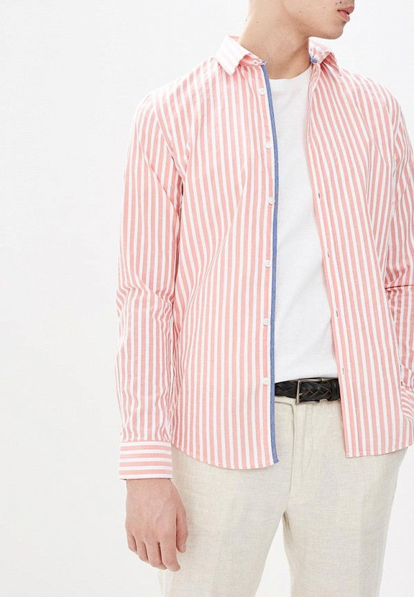 мужская рубашка с длинным рукавом top secret, розовая