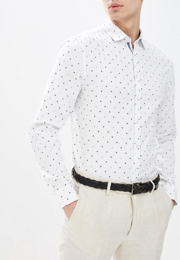 мужская рубашка с длинным рукавом top secret, белая