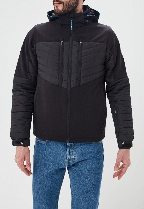 мужская куртка trespass, черная