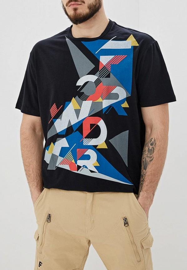 мужская футболка с коротким рукавом forward, черная
