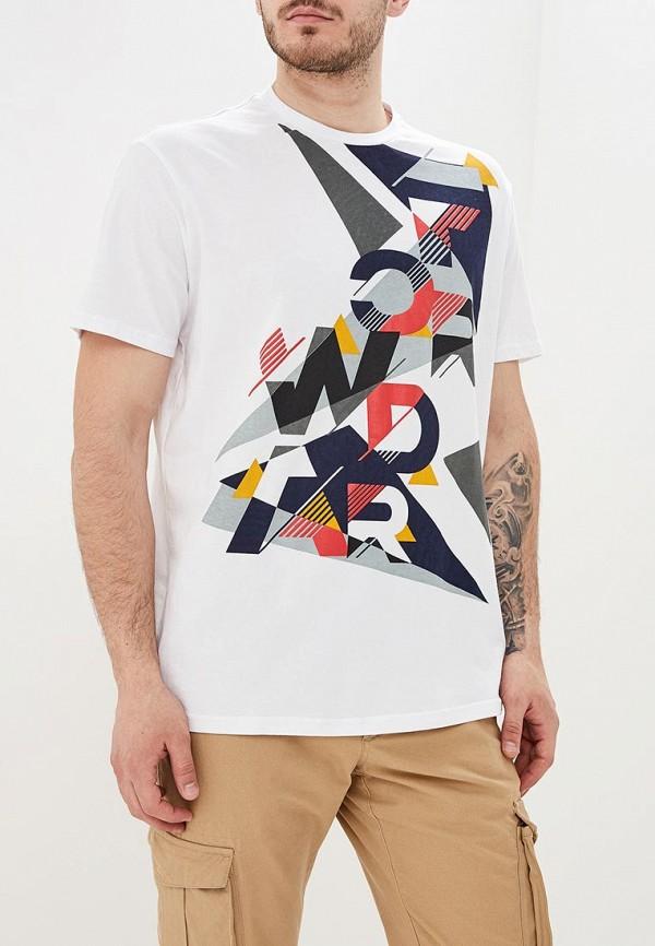 мужская футболка с коротким рукавом forward, белая