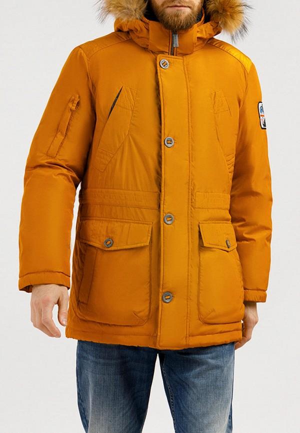 Пуховик Finn Flare оранжевого цвета