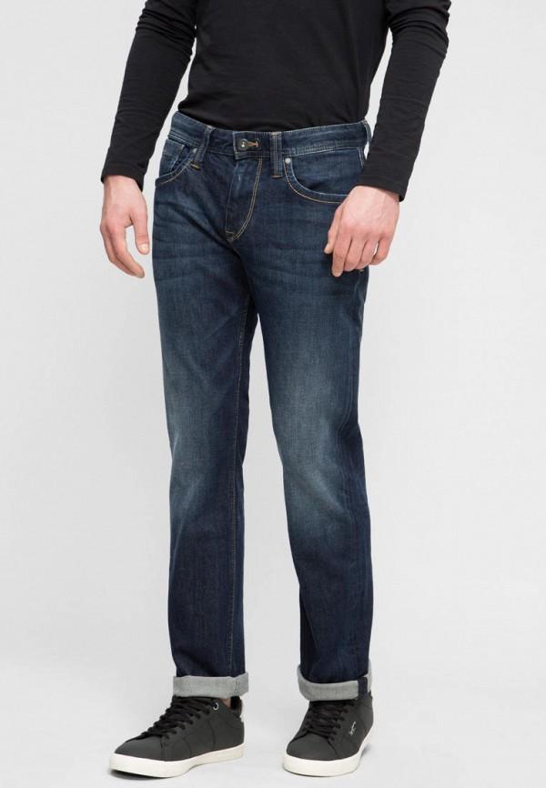мужские прямые джинсы pepe jeans london, синие
