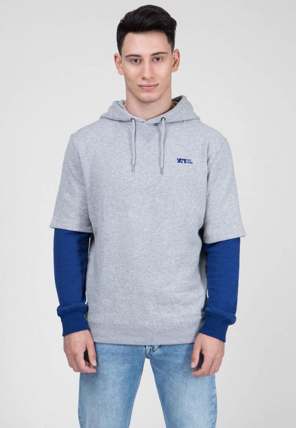 мужские худи pepe jeans london, серые