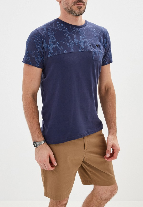 мужская футболка top secret, синяя