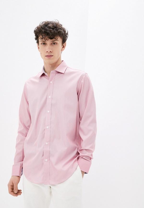 мужская рубашка с длинным рукавом karflorens, розовая