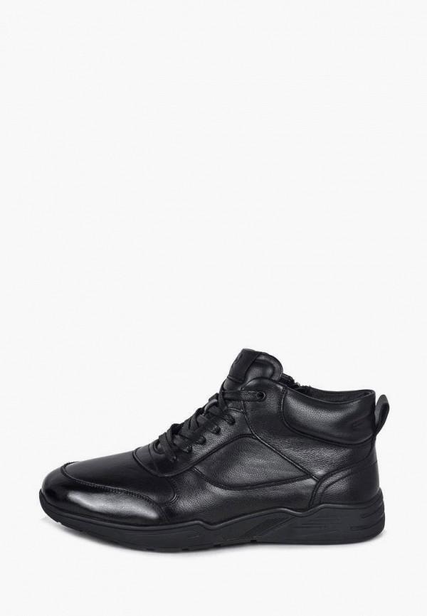 мужские высокие кроссовки pierre cardin, черные