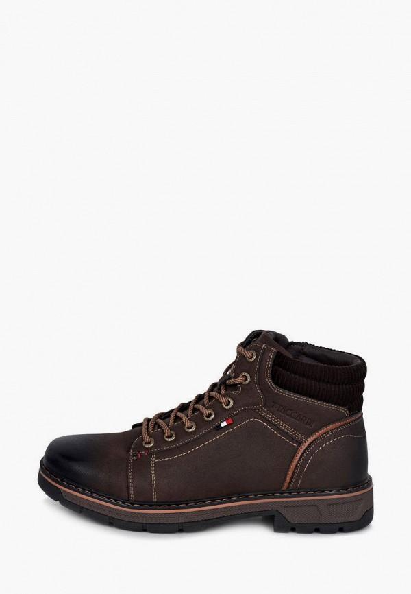 мужские высокие ботинки t.taccardi, коричневые