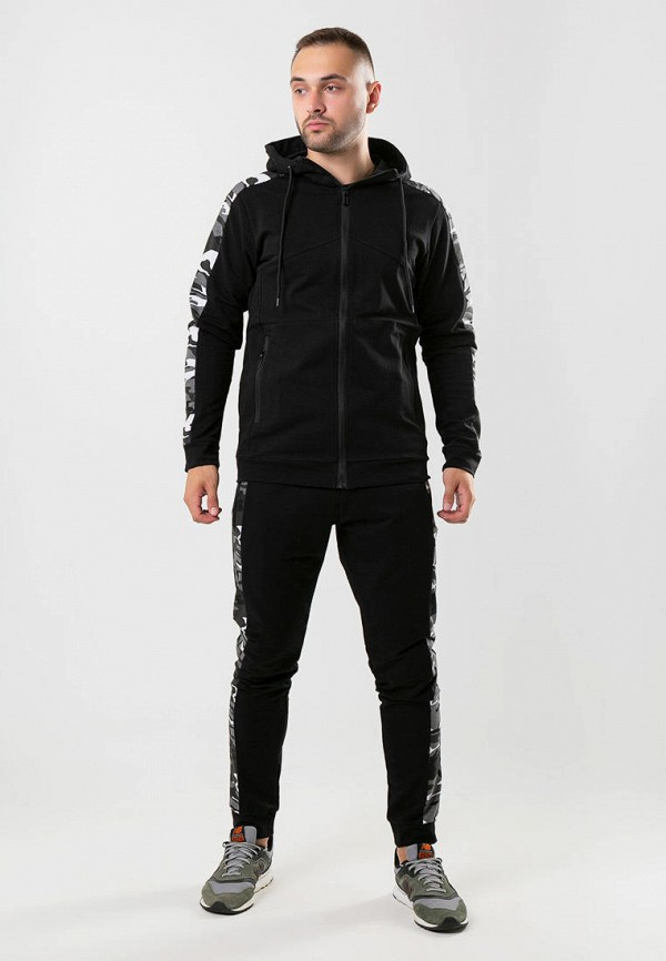 мужской спортивный костюм intruder, черный