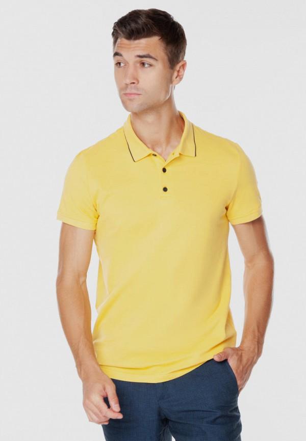 мужское поло arber, желтое
