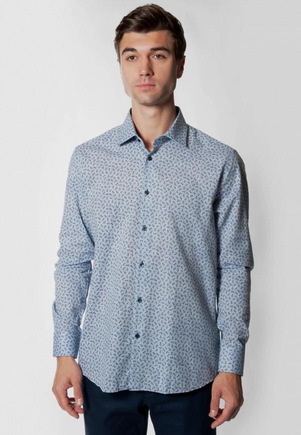 мужская рубашка с длинным рукавом arber, голубая
