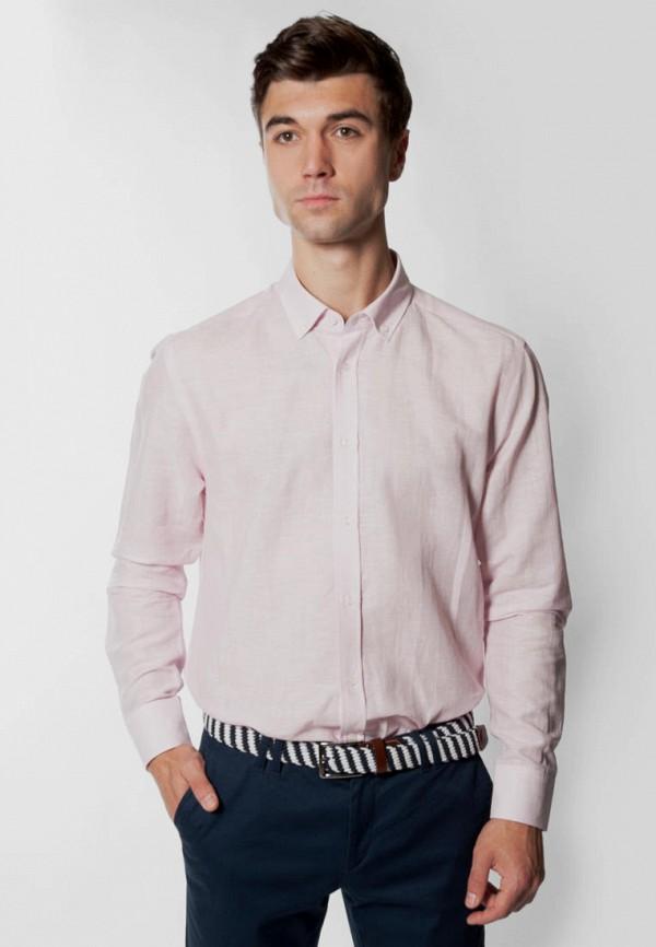мужская рубашка с длинным рукавом arber, розовая