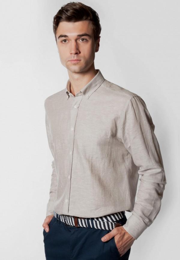 мужская рубашка с длинным рукавом arber, бежевая