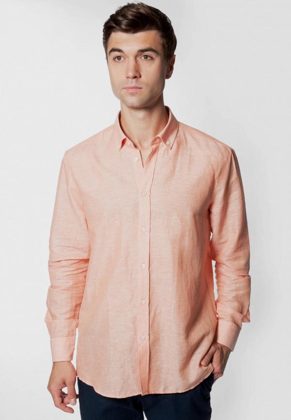 мужская рубашка с длинным рукавом arber, оранжевая