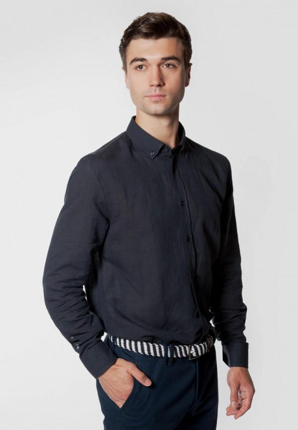 мужская рубашка с длинным рукавом arber, синяя