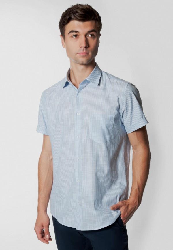 мужская рубашка с коротким рукавом arber, голубая