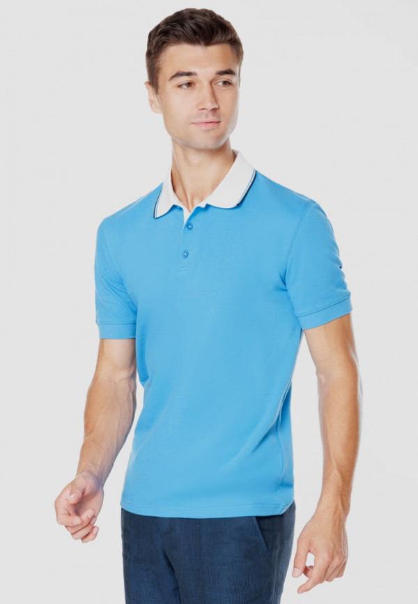 мужское поло arber, синее