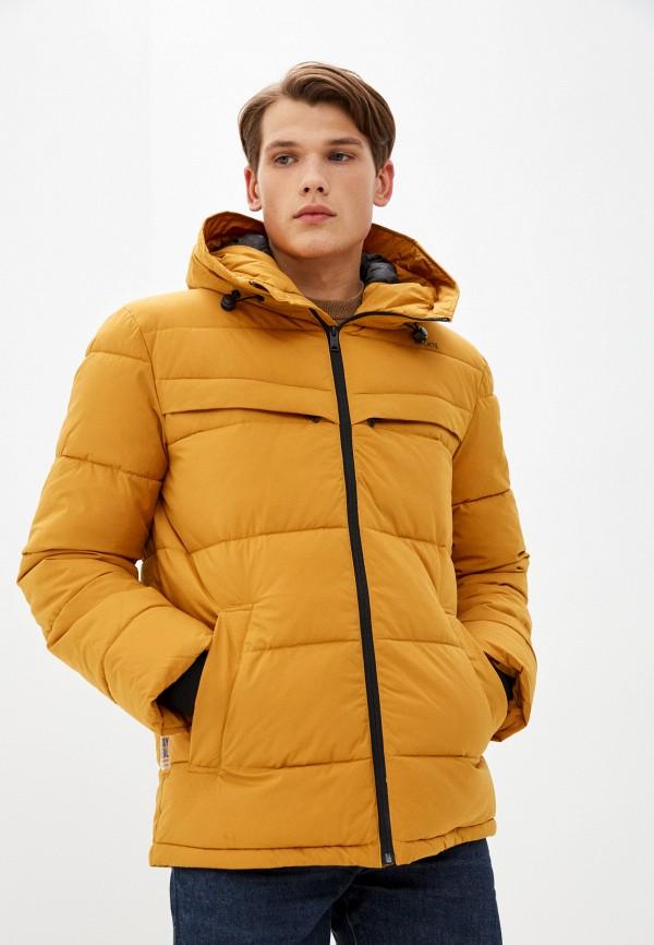 мужская утепленные куртка baon, оранжевая