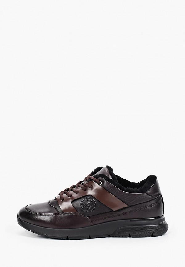 мужские низкие кроссовки vitacci, коричневые