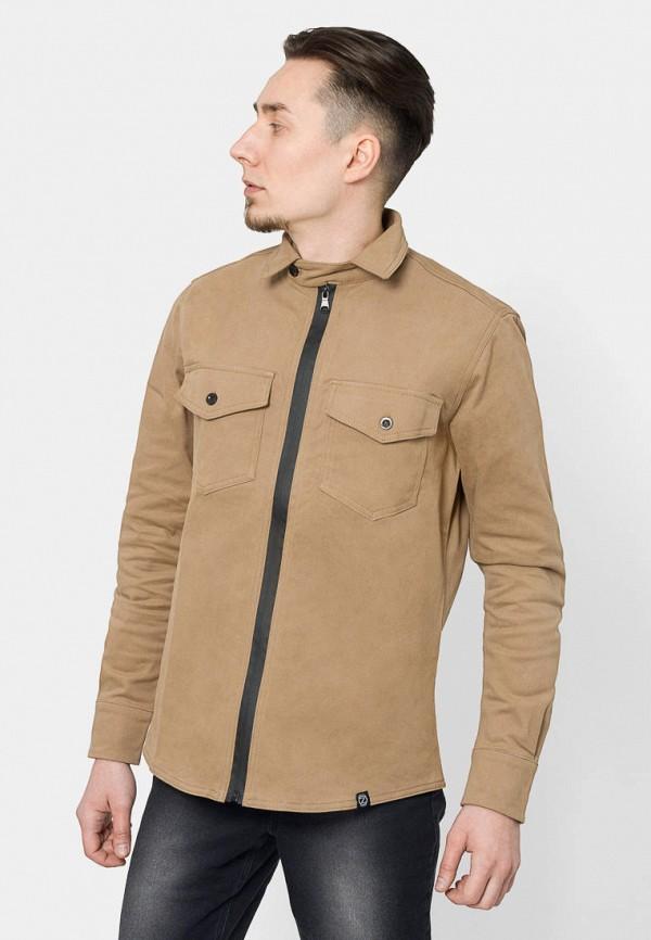 мужская рубашка с длинным рукавом bezet, бежевая
